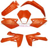 Kit carrosserie RIEJU MRT 7 pièces adaptable orange