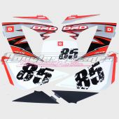 Kit déco origine Derbi DRD Racing 2008 85th anniversary rouge