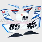 Kit déco origine Derbi DRD Racing 2008 85th anniversary  bleu